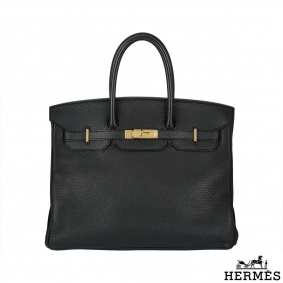 Hermes Birkin 35 cm Black togo leather handbag